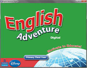 Screenshot of English Adventure Digtial app running on Windows operating system