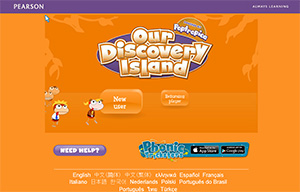 Screenshot of Our Discovery Island website registration page