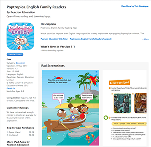 Screenshot of Poptropica Family App download page in app store